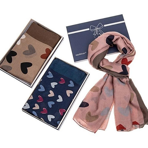 Boxed Hearts Galore Scarf