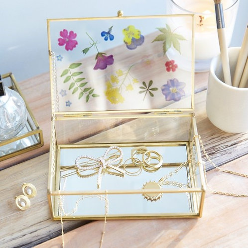 Floral Glass Jewellery Box