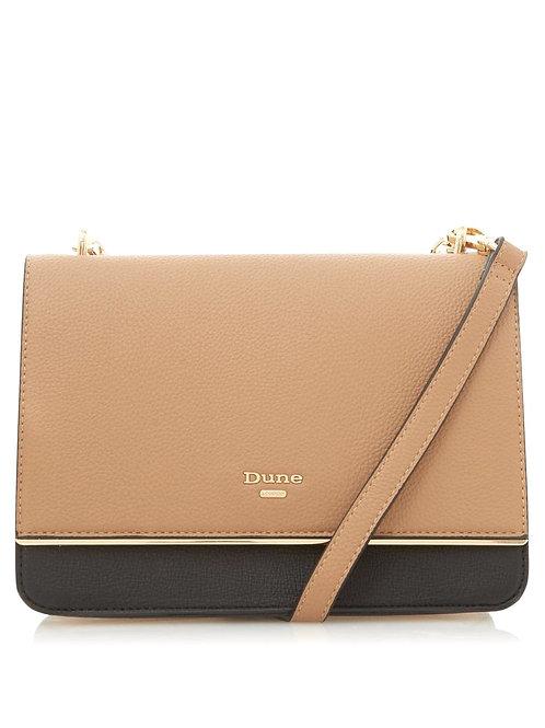 DUNE Delightful' Boxy Clutch Bag - CAMEL