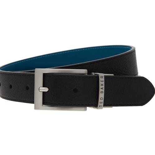 TED BAKER Black & Blue Reversible Leather Belt (Large)