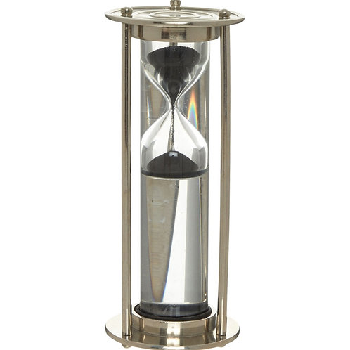 Silver Tone Hourglass Sand Timer