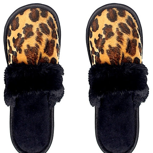 Wild Side Leopard Slippers