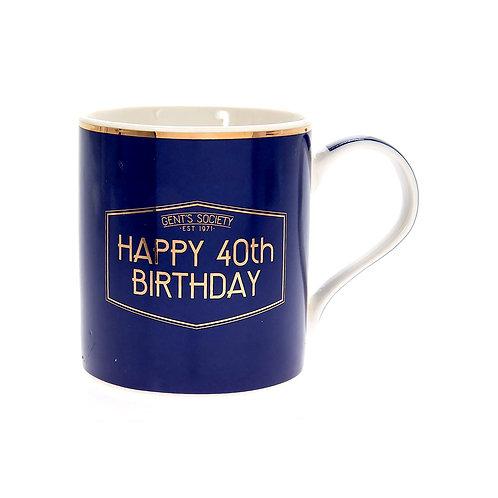 Happy 40th Birthday Gent's Society Mug