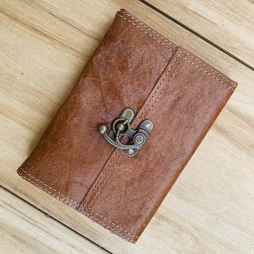 Leather Lock Journal (Unlined)