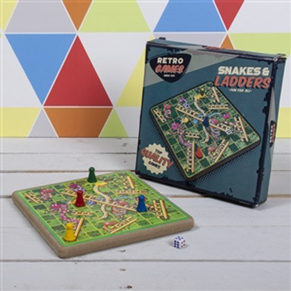 Retro Snakes & Ladders Board Game