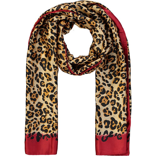 DUNE Brown & Red Leopard Print Scarf