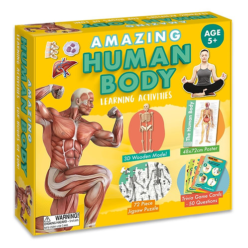 Learning Activity Set - Human Body (For Kids)