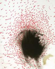 Inner spark, 16x12 inch, Acrylic, pen on paper, 2018