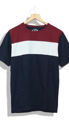 panel T-shirt for a casual brand