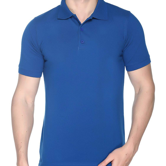 Royal Blue Plain Polo T shirt