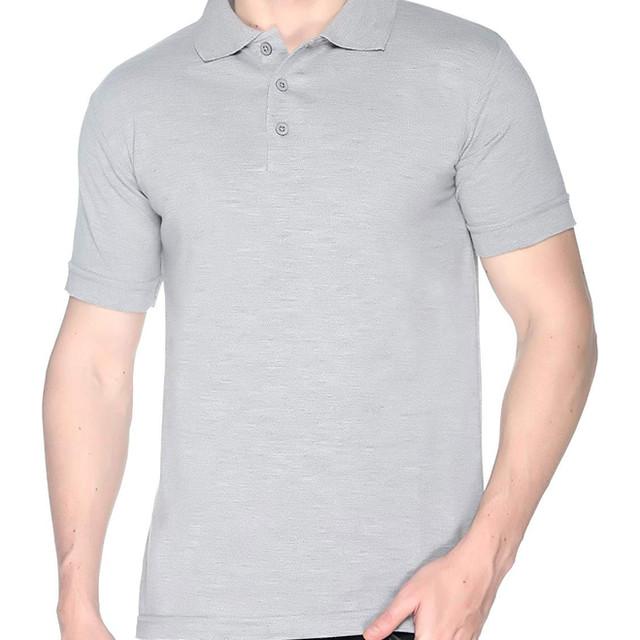 Grey Melange Polo T shirt