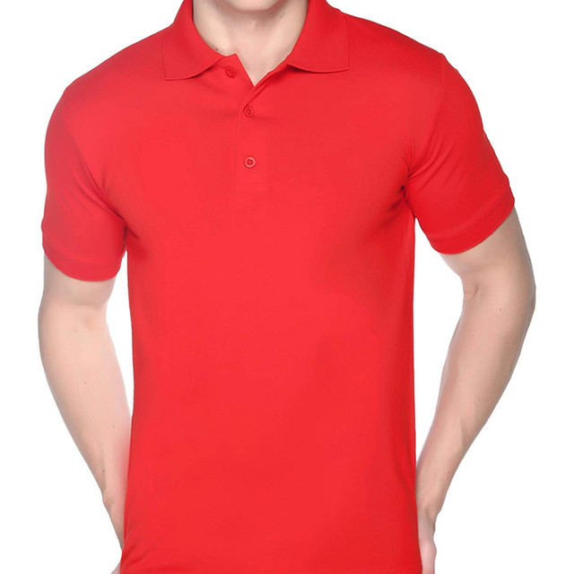 Red Plain Polo T shirt
