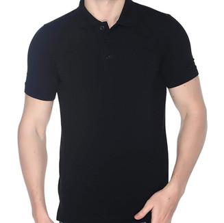 Black Plain Polo T shirt