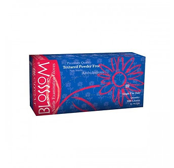Blossom® PowderFree Dark Blue Nitrile Gloves
