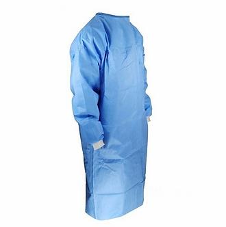 Disposable Gown Blue SMS non-sterilized unique size 10/Pack