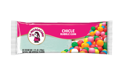 Indulge the child within with our fun and delicious bubble gum paleta. Our paleta is made with real ice cream and even has an added bonus, real gum balls!