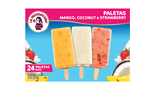 Enjoy the authenticity of fresas con crema, the creaminess of mango, or the tropical getaway experience of our coco paletas all in one pack.