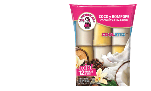 Mini CoolStix™ are jam-packed with authentic flavors like our traditional rompope and tropical coconut.