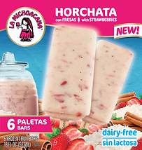 05006 La Michoacana Horchata con Fresas Paletas Horchata with Strawberries Frozen Fruit Bars