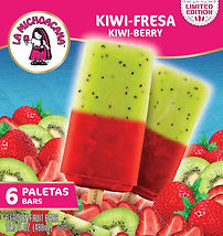 La Michoacana Limited Edition A Kiwi-Fresa Paletas Frozen Fruit Bars