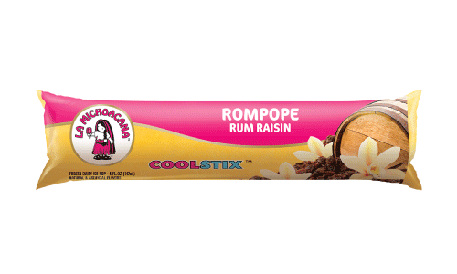 Rompope is traditonally reserved for the holidays, but thanks to our Rum Raisin CoolStix, also known as bolis, you can say cheers all year.