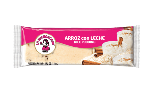 Re-connect to your abuelita's homemade arroz con Leche, our paleta uses authentically cooked rice with real raisins, cinnamon powder and real ice-cream to recreate abuelita's old-fashioned arroz con leche recipe.