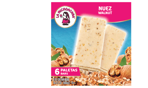 We all know walnuts are a superfood, but when paired with real ice cream, they become super-delicious too! Indulge in our nutty paleta and enjoy real walnut pieces in every bite.