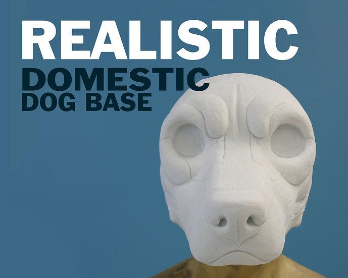 REALISTIC DOMESTIC DOG RESIN BASE