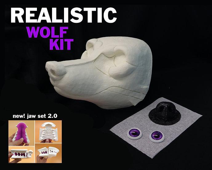 (( KIT )) REALISTIC WOLF RESIN BASE