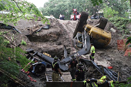 Back Pain from Backhoe Accident