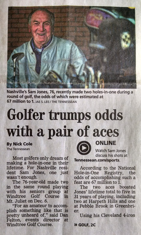 TWO Holes-in-one after back surgery