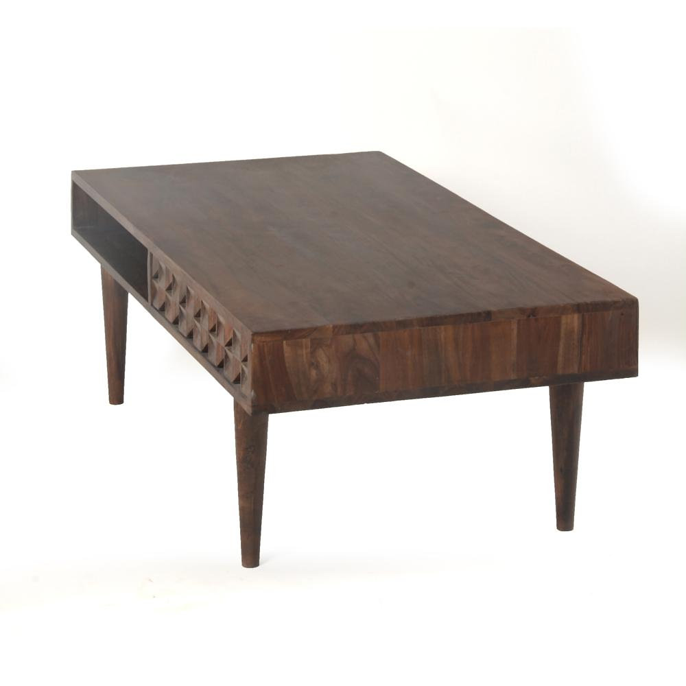 Crafted in solid sheesham wood  the slim profile of this coffee table is  perfect for smaller spaces  Two handy drawers for storage  Solid sheesham  wood with. Rustic Modern   Furniture Gallery    Daulton 2 Drawer Coffee Table