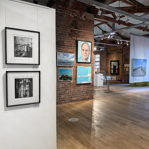 New Light Art Prize Exhibition - The Biscuit Factory Newcastle - work in situ