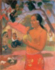 Gauguin_Woman_Holding_a_Fruit_Eu_haere_i