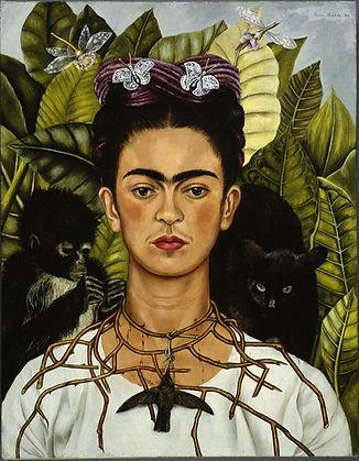 Frida-Kahlo-Self-Portrait-with-Necklace-