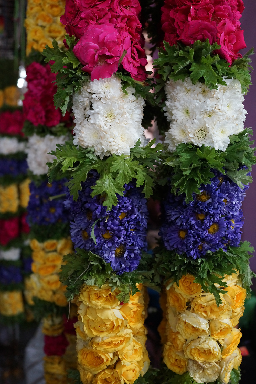 Flower garlands at the Flower Market