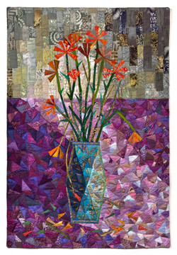 """Dishevelled flowers 36"""" x 25"""""""