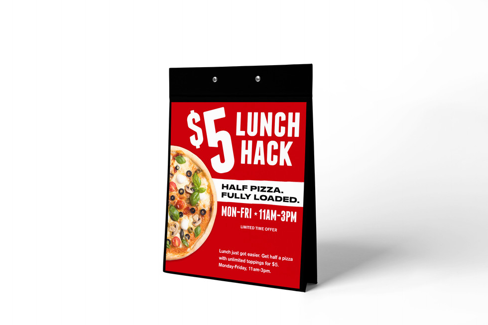 Hitz Pizza Lunch Deal Table Tent