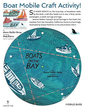 Boats Mobile Craft Activity