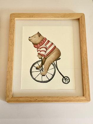 Cuadro Oso En Bicicleta