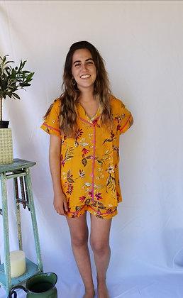 Pijama Floral Amarillo #004