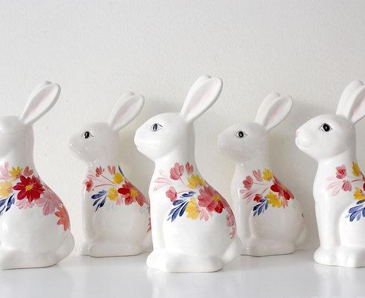 Conejo Flores Decorativo