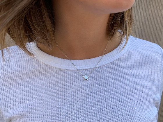 Collar Estrella M Silver
