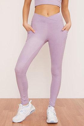 Wolven Crossover Pocket Legging Lavender