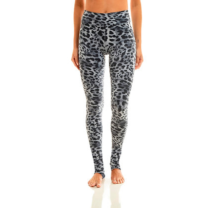 Extra Long Eco Legging Black Cheetah