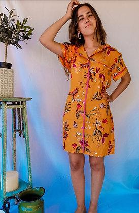 Camisa Floral Amarilla #008