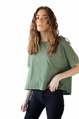 Polera Garment Dyed Tee Olive Green (20XSPGARHGREE)