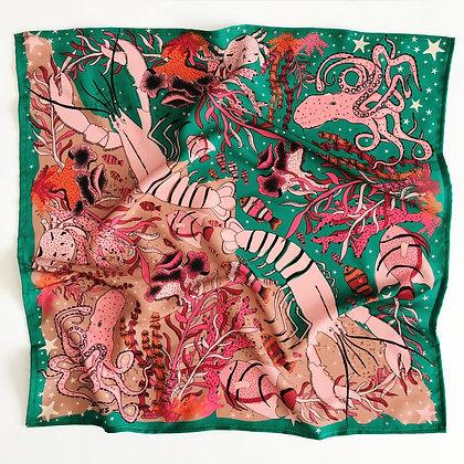 Pañuelo Caribe Verde 90x90