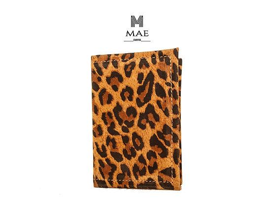 Tarjetero Simple Leopardo MT01