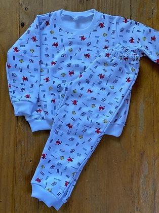 Pijama Invierno Niño Bomberos